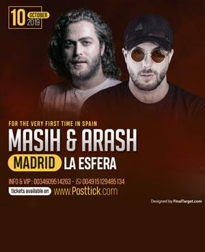 Masih & Arash live on stage - 10.10.2019 - CM La Esfera - Madrid, Spain