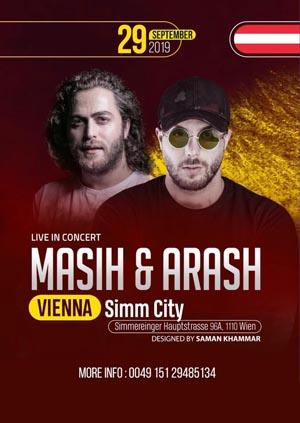 Masih & Arash live on stage - 29.09.2019 - SIMM City - Wien, Österreich