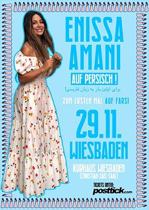 Enissa Amani live on stage (FARSI) - 29.11.2018 - Kurhaus - Wiesbaden