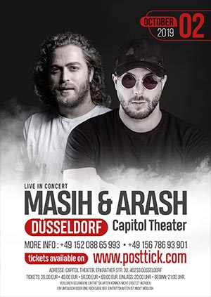 Masih & Arash live on stage - 02.10.2019 - Capitol Theater - Düsseldorf