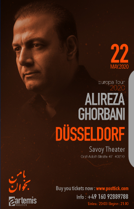Alireza Ghorbani live on stage - 22.05.2020 - Savoy Theater - Düsseldorf