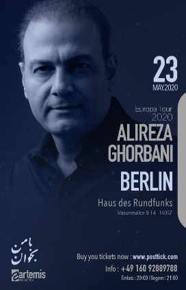 Alireza Ghorbani live on stage - 23.05.2020 - Haus des Rundfunks - Berlin